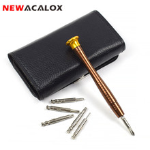 NEWACALOX 25in1 Wallet Pocket Precision Magnetic Phillips Screwdriver For Cellphone Sunglas
