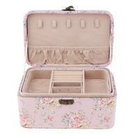 MagiDeal Vintage PU Leather Travel Jewelry Box Storage Display for Necklace Bracelet Earring Ring Holder