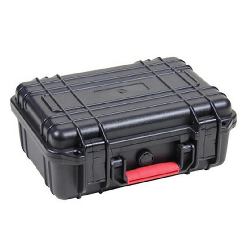 جعبه ابزار جعبه ابزار جعبه ایمنی ضد آب درزگیر مقاوم در برابر ضربه 263x206x106mm مورد دوربین تجهیزات امنیتی با فوم پیش از برش