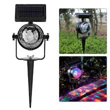Disco Laser Light Outdoor Waterproof Solar Panel Festival LED Fairy Spotlight Projector Lamp for Home Garden Xmas Party(China)