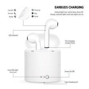 I7s TWS V4.2 + EDR беспроводные Bluetooth наушники музыкальные спортивные стерео наушники гарнитура с микрофоном для всех смартфонов