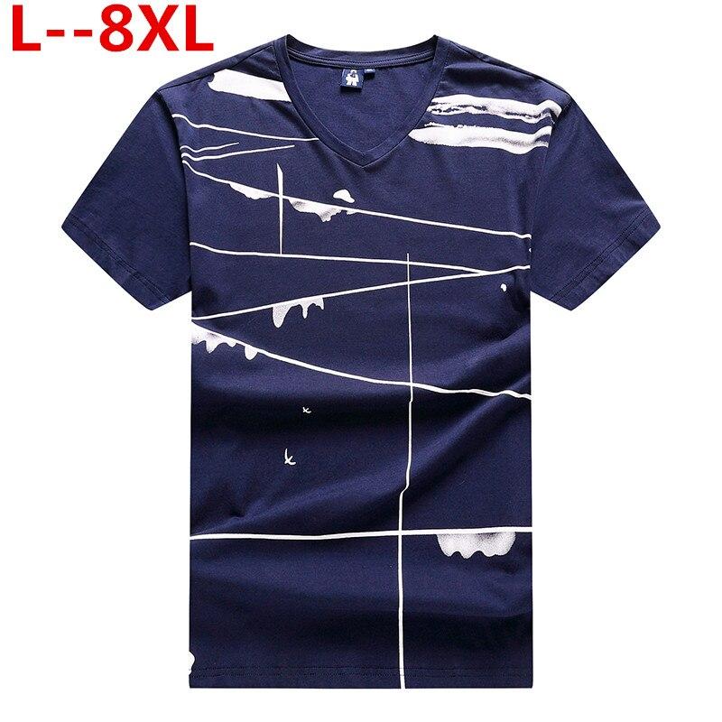 10XL 8XL 6XL 2019 T-shirts pour hommes été 3D impression T-shirt décontracté col en v hommes T-shirt marque coton drôle T-shirt haut pour homme T-shirts