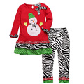 2016 Fashion Girls Sets Christmas Baby Girl Clothing Sets 2pcs T-Shirts+Pants Infant Girl Clothes Ensemble Fille
