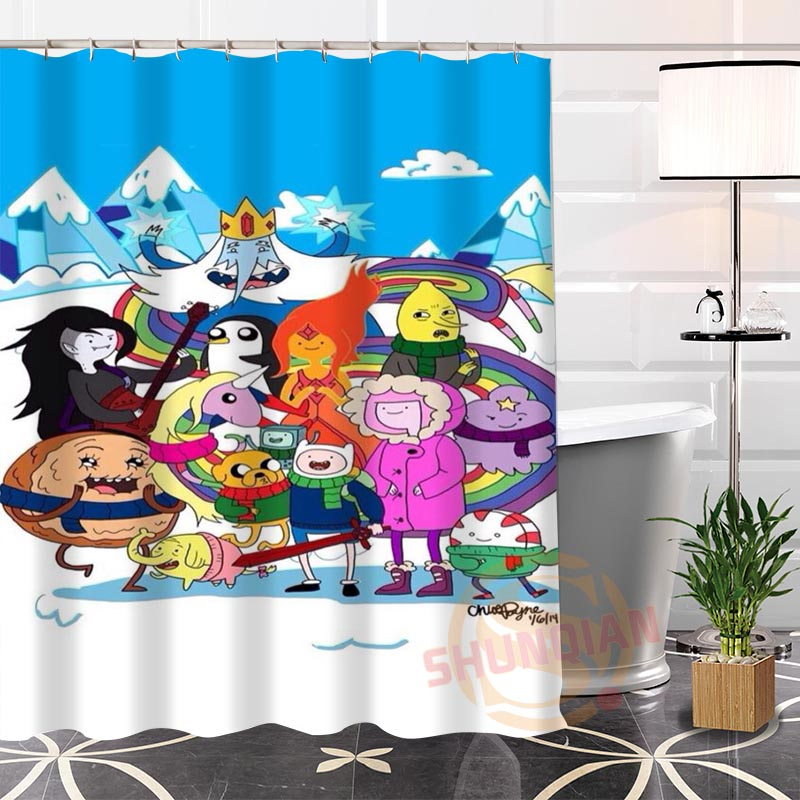 Eco Friendly Custom Unique Adventure Time Fabric Modern Shower Curtain Bathroom With Hooks For Yourself H0220 93 In Curtains From Home Garden On