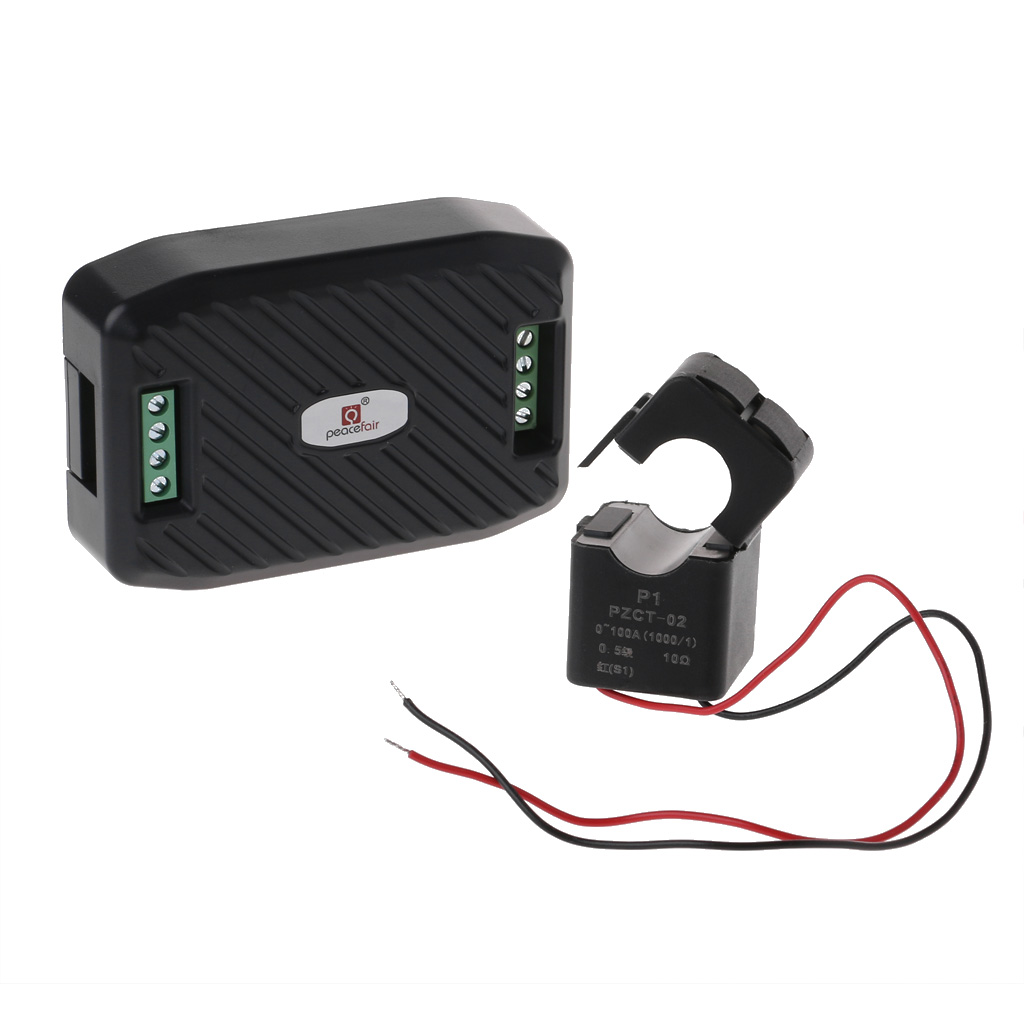 AC 100A voltaje corriente energía Hz factor de Energía RS485 módulo Modbus con split CT