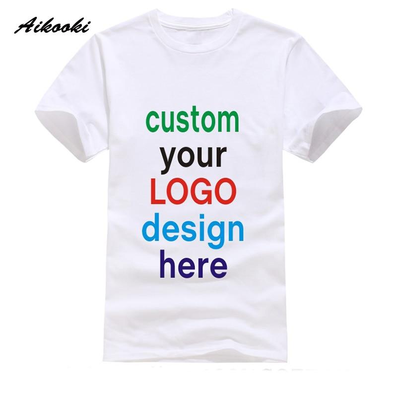 Custom t shirt logo text photo print men women kid for Printing logos on t shirts