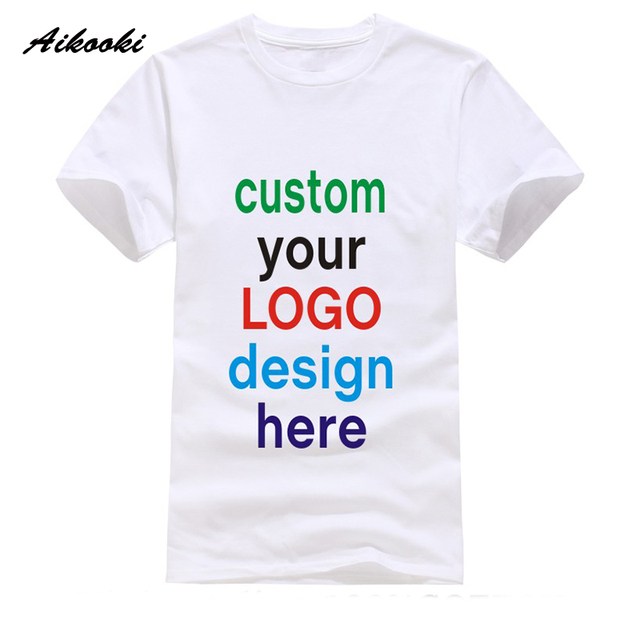 Custom t shirt Logo Text Photo Print Men Women Kid Personalized Team Family  Customized T-