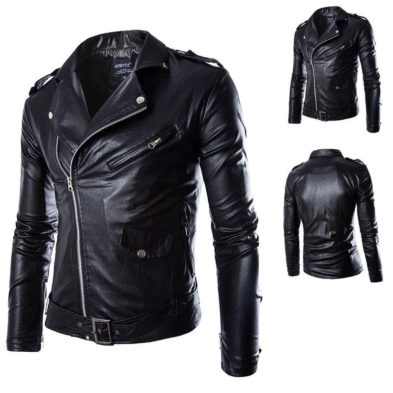 Aliexpress.com : Buy Brand Black Pu Leather Jacket Men 2016 New ...