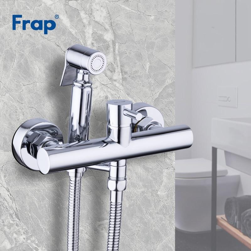 Home Improvement Toilet Spray Cold And Hot Mixer Valve With Hose Handheld Portable Hand Held Bidet Golden European Antique Faucet Washer Sprayer Bidets & Bidet Parts
