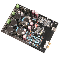 K.GUSS Assembled XMOS U8 + AK4495SEQ + AD827 LT1963 USB DAC decoder board Support 32BIT 768K LT1963 3.3 audio Amplifier board