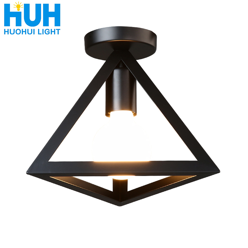 Vintage Ceiling Lamp For Living Room Bedroom Nordic Wrought Iron Retro Corridor Aisle For Living Room Bar Ceiling Light
