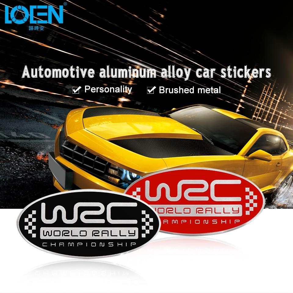 Sport 3d alloy wrc world rally car head body modified car stickers decals decoration car door sticker tail decal car styling in car stickers from