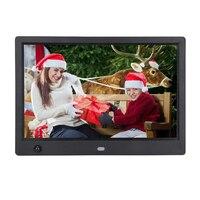 Quadro digital da foto 10.1 polegada digital eletrônico moldura 16:9 1024x600 display com sensor de movimento hu