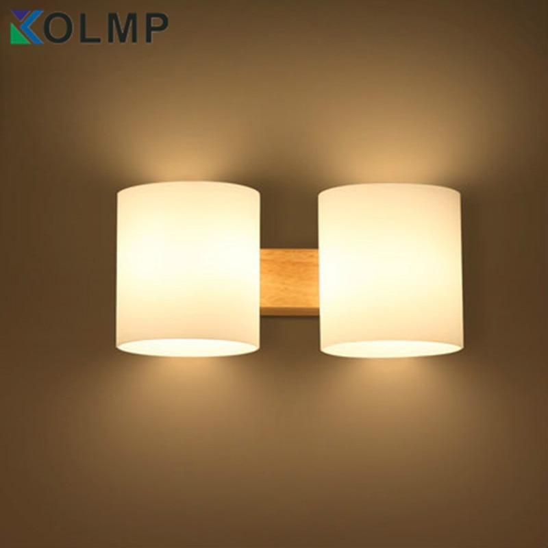Oak Modern wooden Wall Lamp Lights For Bedroom/bathroom ...