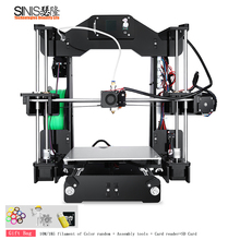High Accuracy Auto Leveling Laser Engraver 3d Printer High Precision Imprimante 3D DIY Kit With Hotbed Arcylic Frame SD Card 3d printer high precision sapphire s corexy automatic leveling aluminium profile frame big area diy kit core xy structure