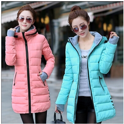 28ebcb7d1cd MIEGOFCE 2016 New spring jacket women winter coat women's clothing warm  outwear Cotton-Padded long Jacket coat Slim trench coat