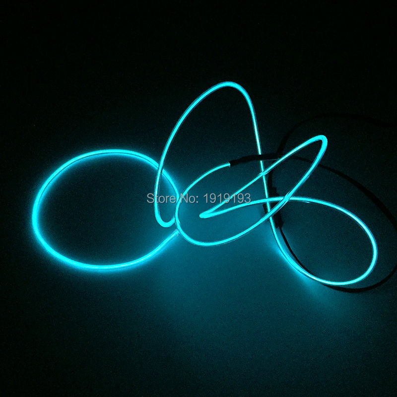 Trendy 1Meter 2.3mm LED Neon Glowing wire EL Wire suitable for DIY party bar dance holiday lighting with Micro EL Driver
