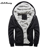 2016 New Autumn Winter Warm Thick Solid Hoodies Mens Sweatshirt Casual Brand Tracksuit Sweatshirts Men Designer