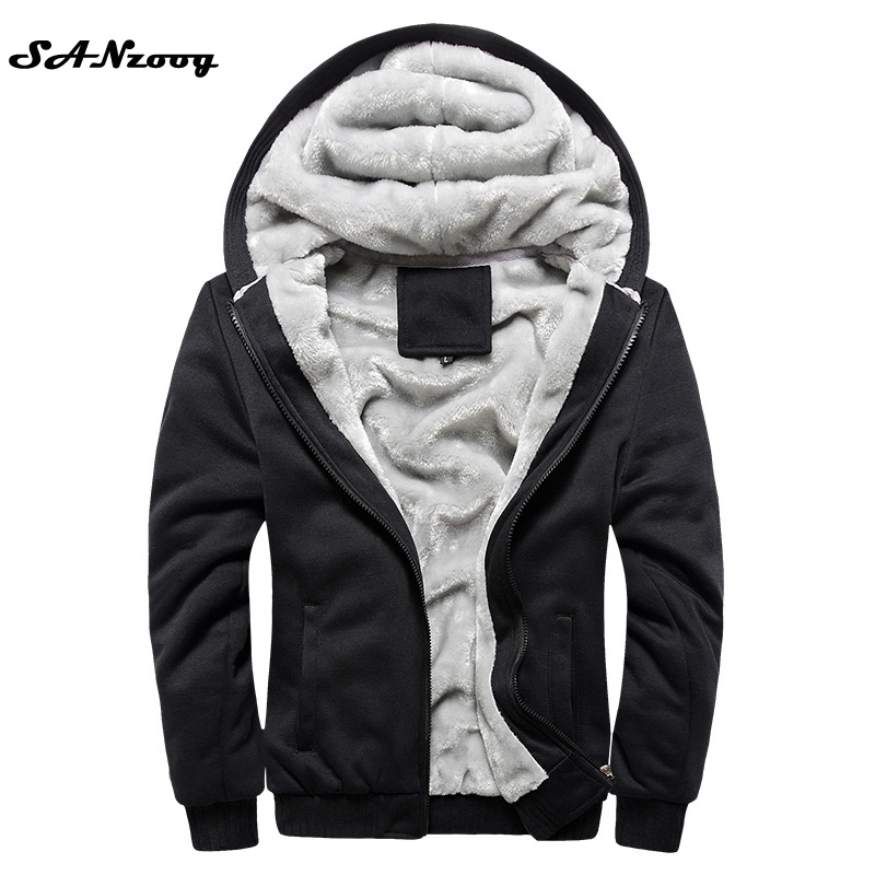 2017 New Autumn Winter Warm Thick Solid Hoodiess