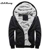 2016 New Autumn Winter Warm Thick Solid Hoodies Mens Sweatshirt Casual Brand Tracksuit Sweatshirts Men Designer