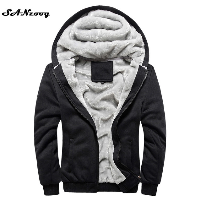 Hoodies Sweatshirt Men 2017 New Autumn Winter Warm Thick Solid Casual Brand Tracksuit Men's Sweatshirts Hooded Plus Size 5XL