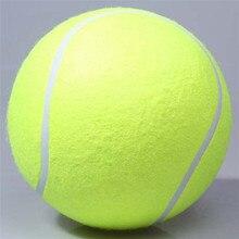 Hund spielzeug 24 CM Riesen Tennisball Für Pet Kauen Spielzeug Große aufblasbare Tennisball Unterschrift Mega Jumbo Pet Spielzeug Ball Im Freien