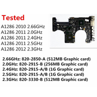 テスト A1286 マザーボード Macbook Pro の 15