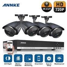 ANNKE 4CH CCTV Sistema DVR 4 UNIDS 720 P IR Resistente A la Intemperie Al Aire Libre Cámara CCTV Seguridad Para El Hogar Sistema de Vigilancia Kits