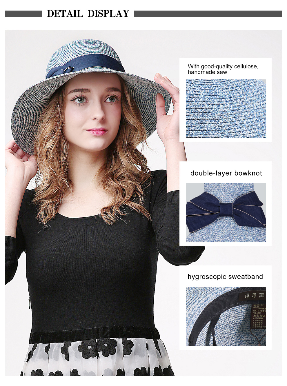 06152a17808 Sedancasesa HOT summer large brim straw hat adult fashion sun hat uv  protect bow summer beach hats for women grils floppy capsUSD 16.99 piece