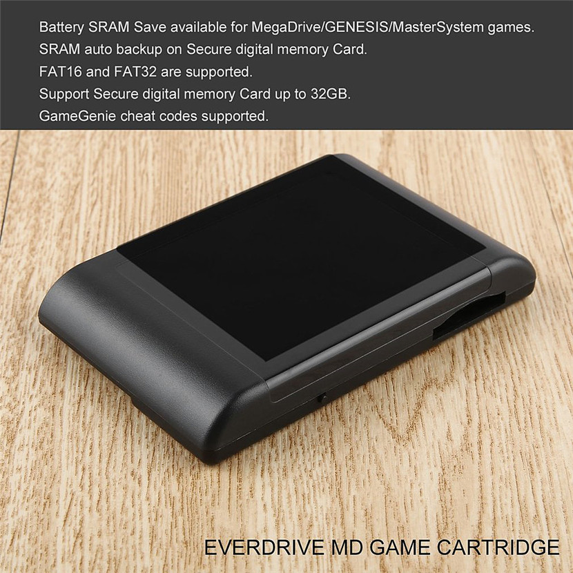 Professional Portable For SEGA EverDrive MD Cartridge Small Size Mega Drive Vintage Console Cartridge