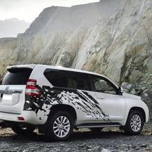 car stickers 2pc side body rear tail trunk mudslinger graphic vinyl accessories decal custom for Toyota prado fj150