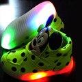 Crianças led com luz para crianças meninas meninos lumineuse chaussures derramar de enfants fille garcon marque tênis schoenen