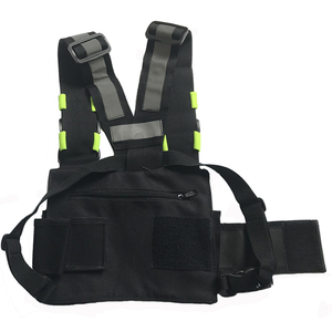 Image 5 - Nylon Harness Two Way Radio Pouch Chest Bag Pack Walkie Talkie Carry Case For kenwood for Baofeng UV 5R UV 82 for Motorola