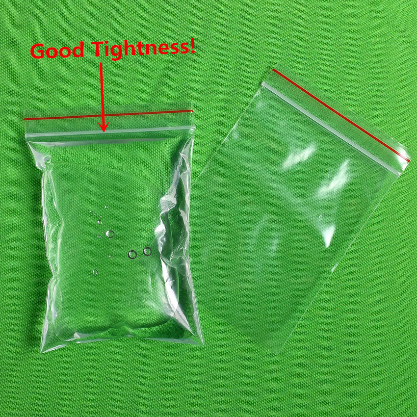Plastic Self Sealing Zipper Ziplock Package Reclosable Packaging Clip Chain Grocery Big Large Bags 50x70cm Good Tightness
