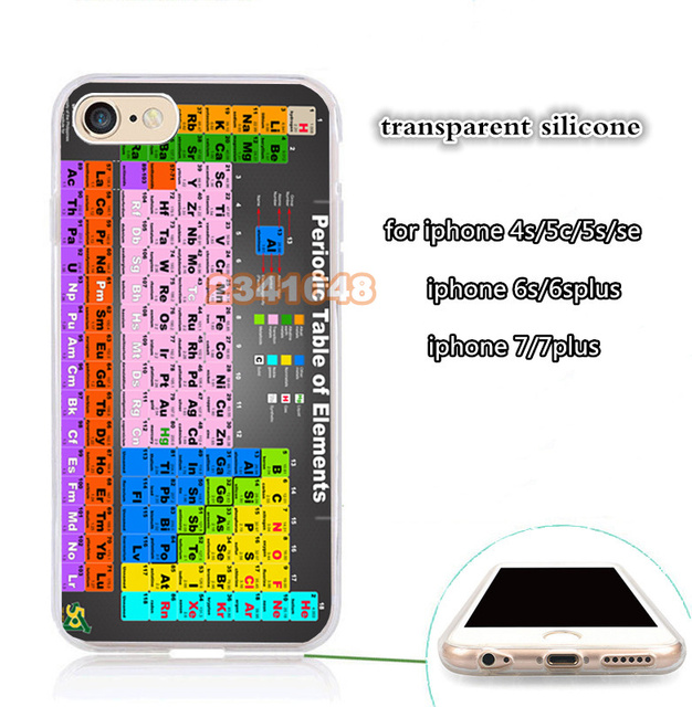 US $3 97 |chemical chemistry college periodic tables soft silicone phone  case for iphone 5s se 6 6s 6plus 7 7plus 8 8plus X XR XS MAX-in  Half-wrapped
