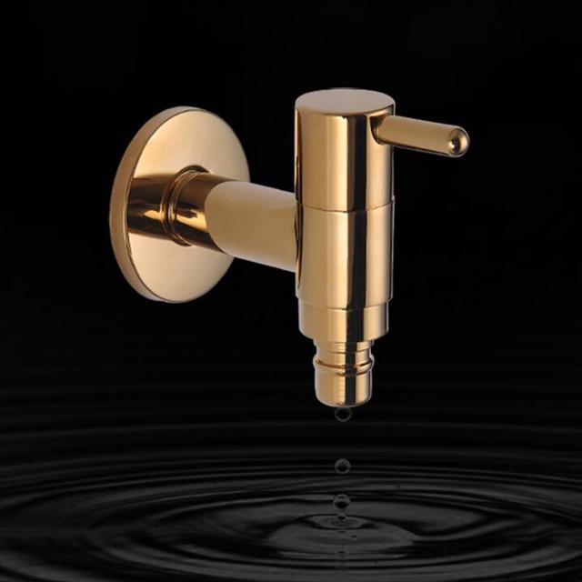 Nouveau robinet de jardin finition dorée salle de bain mural lave ...
