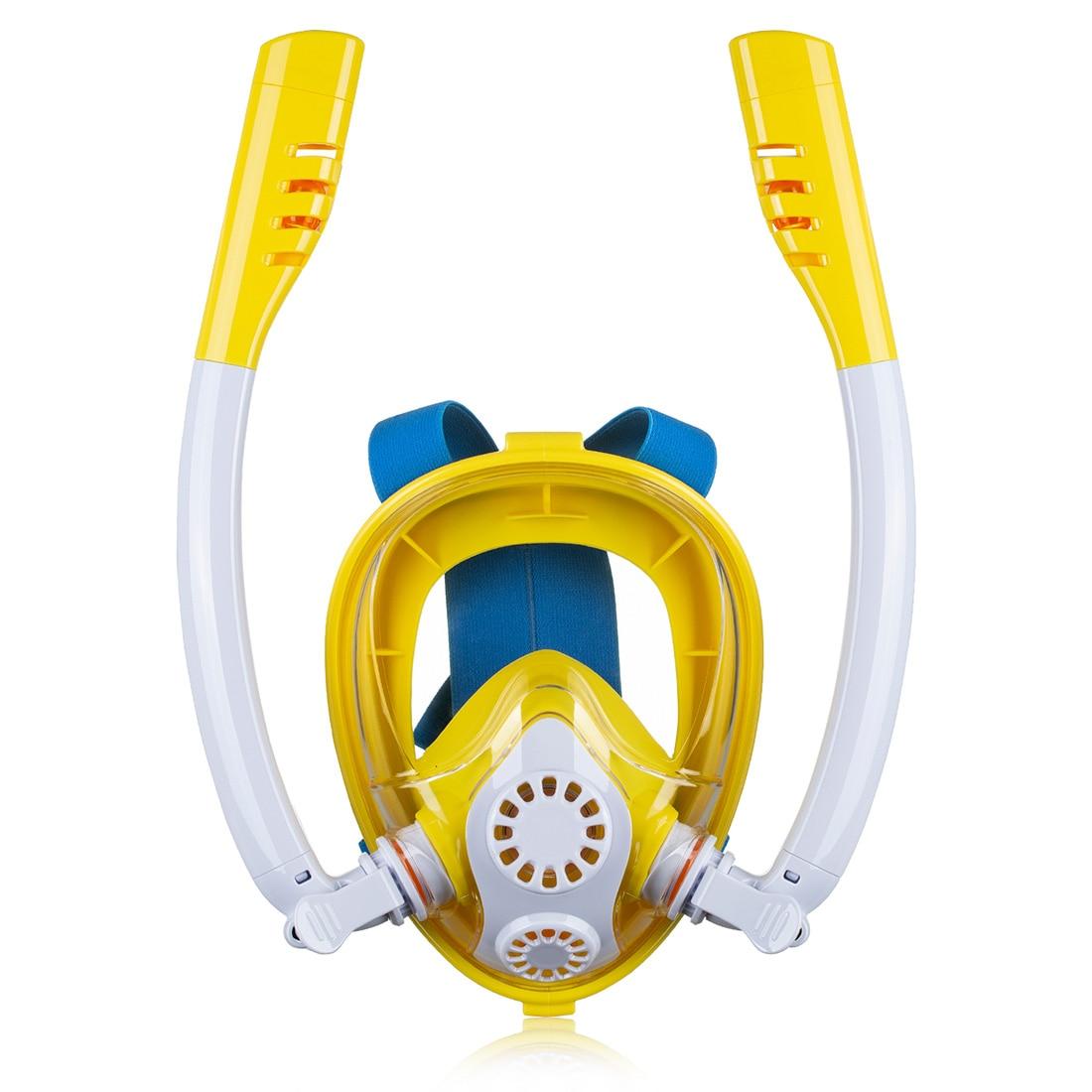 K2 enfants dos nu natation respiration masque de plongée Anti fuite masque de plongée avec Double Tubes et support de caméra pour Gopro