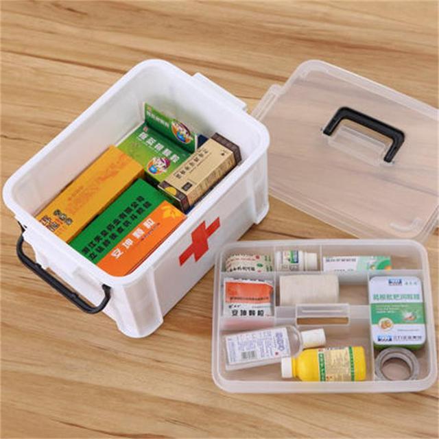 1PCS Multi-layered Large Family First Aid Kit Box Medicine