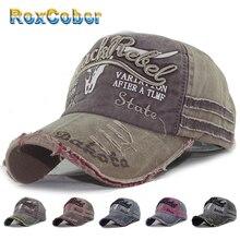 RoxCober Großhandel Gewaschen Baumwolle Baseball Cap Männer Frauen Snapback Hut Vintage Hüfte Hop Einbau Kappe Hüte Für Männer Frauen Schleifen 4000
