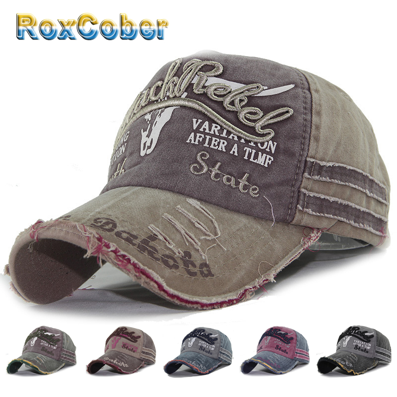 RoxCober Wholesale Washed Cotton   Baseball     Cap   Men Women Snapback Hat Vintage Hip Hop Fitted   Cap   Hats For Men Women Grinding 4000