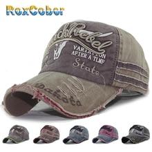 RoxCober vente en gros coton lavé casquette de Baseball hommes femmes Snapback chapeau Vintage Hip Hop casquette équipée chapeaux pour hommes femmes meulage 4000