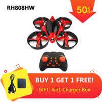 Mini Drone mit 0.3MP Kamera Höhe Modus Quadrocopter mit Kamera 2,4G RC Hubschrauber 6 Achse RC Quadcopter Spielzeug VS h36 E010