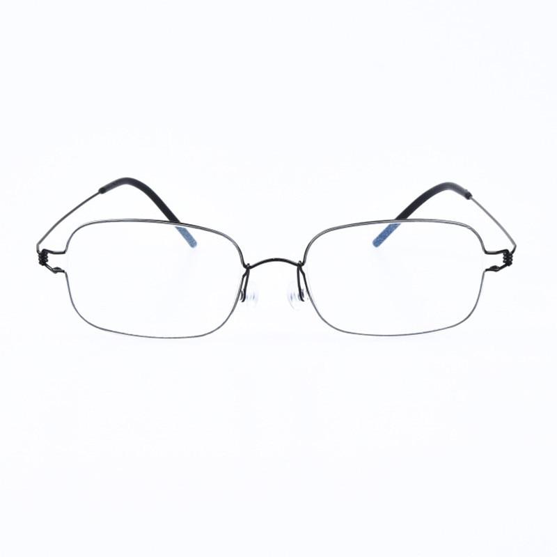 Hand-made Gasses Frame Screwless Eyewear Business Ultralight Myopia Square Optical Prescription Eyeglasses Oculos De Grau