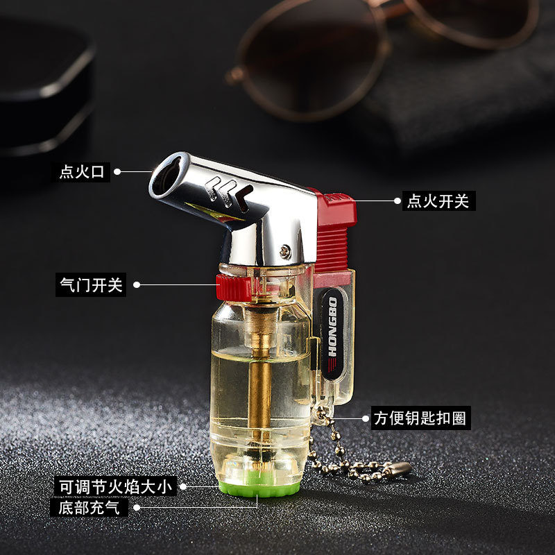 Image 4 - Elbow Portable Torch Lighter Turbo Jet Butane Pipe Cigar Lighter Spray Gun Gas 1300 C Windproof For Outdoor No Gas-in Matches from Home & Garden