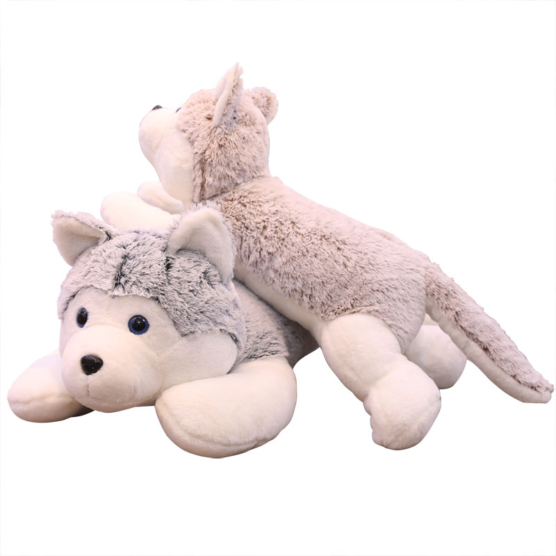 Super Soft Lying Dog Plush Toys Stuffed Lovely Animal Husky Dog Pillow Children Birthday Gift Toy
