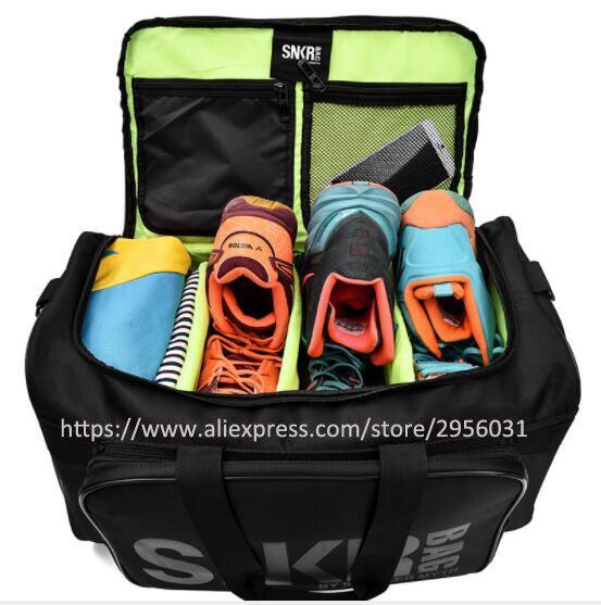 Кроссовки вещевой обувь для мужчин и женщин кроссовки спортивная сумка Упаковка куб Организатор двойной молнии водонепроница