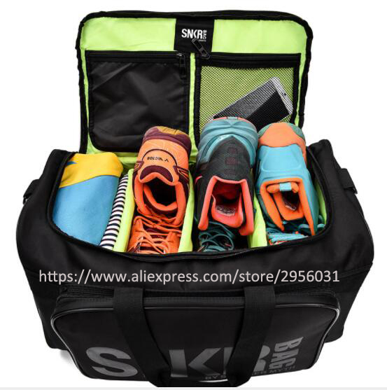 a6a55898681eec SNEAKER DUFFEL Men and Women Sneaker GYM Bag Packing Cube Organizer Double  Zipper Waterproof Polyester Bag Wholesale-in Gym Bags from Sports    Entertainment ...