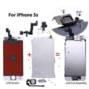 Image 4 - Aaa + + + lcd conjunto completo para iphone 5 5c 5S se 6 7 8 mais toque de vidro display lcd substituição digitador câmera frontal ouvido alto falante
