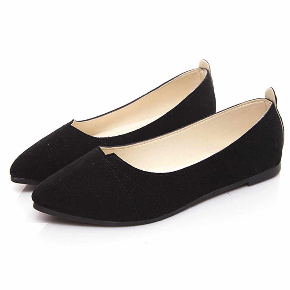 Hàng Mới 2019 Mùa Xuân Và Mùa Thu Nữ Lười Nữ Đế Bằng Thuyền Giày Casual Nữ Thoải Mái Giày