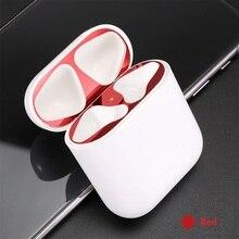 Защитная крышка пылезащитный патч Bluetooth беспроводная гарнитура металлическая фурнитура Внутренняя крышка для предотвращения пыли наклейки на кнопки цвета «металлик» для Airpods